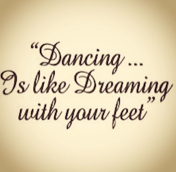Dancing it's like dreaming with your feet - true. This font is beautiful