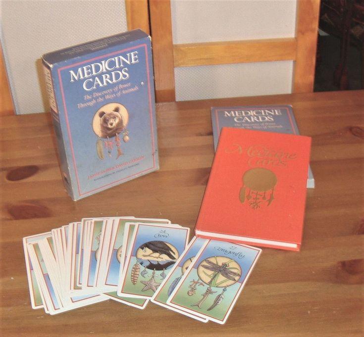 Vintage 1988 Animal Medicine Cards Deck & Book by Jamie Sams & David Carson