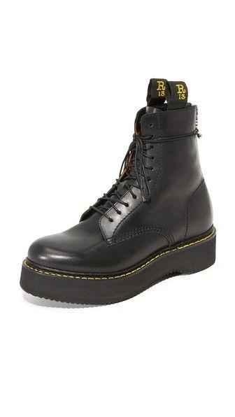 R13 Армейские ботинки на платформе