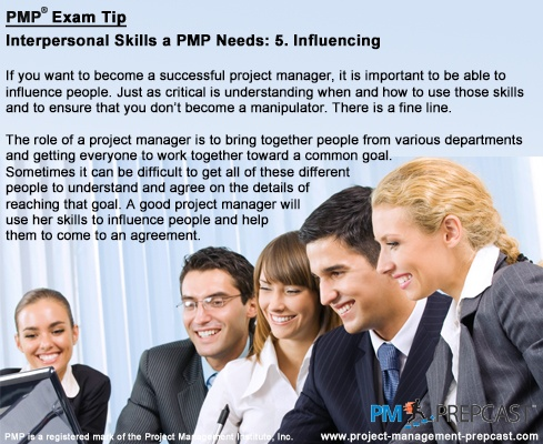 #PMP Exam Tip: Interpersonal Skills A PMP Needs: Influencing