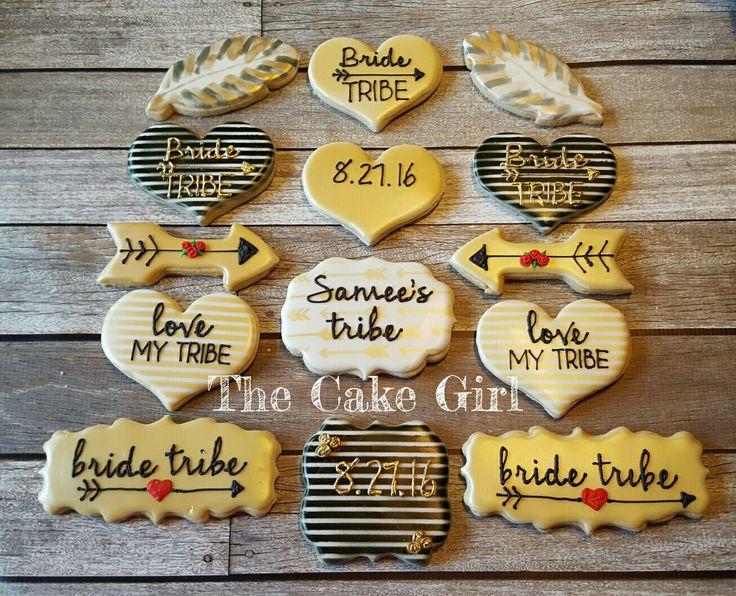Bride tribe bachelorette cookies