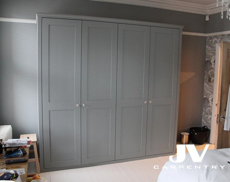 Grey fitted wardrobe