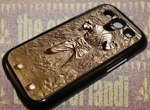 Star Wars Han Solo Carbonite For Samsung Galaxy S3 Black Rubber Case