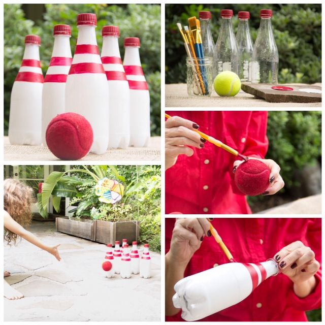 Recycled Bottle Bowling/ Moonfrye DIY/ Kids Crafts/ Kids Activities