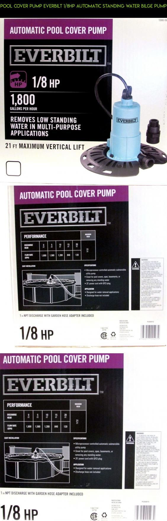 Pool Cover Pump EVERBILT 1/8HP Automatic standing water bilge pump  #plans #racing #pools #parts #gadgets #pump #fpv #camera #shopping #kit #tech #products #cover #technology #drone