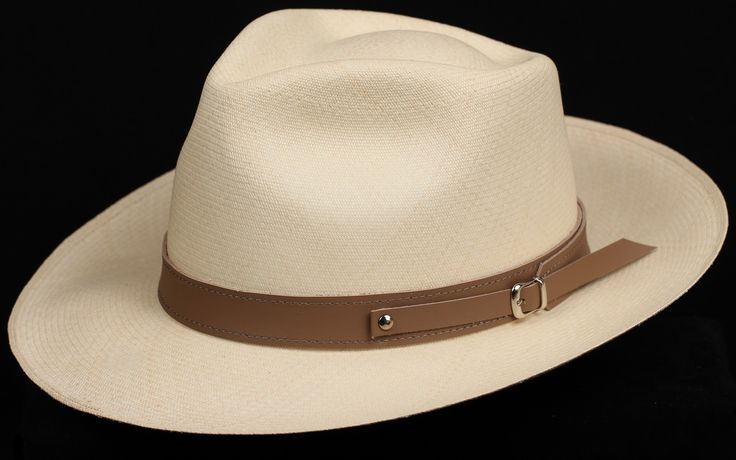 1 inch Plane Tan Leather hat band