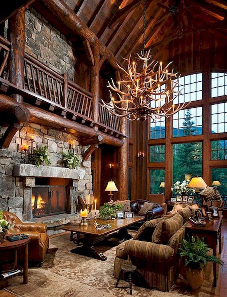50 Best Log Cabin Homes Modern Design Ideas – #Cab…