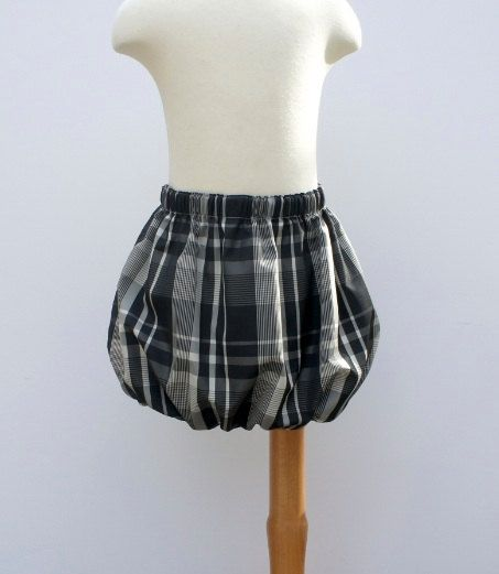 black and white reversible bubble skirt - Google Search