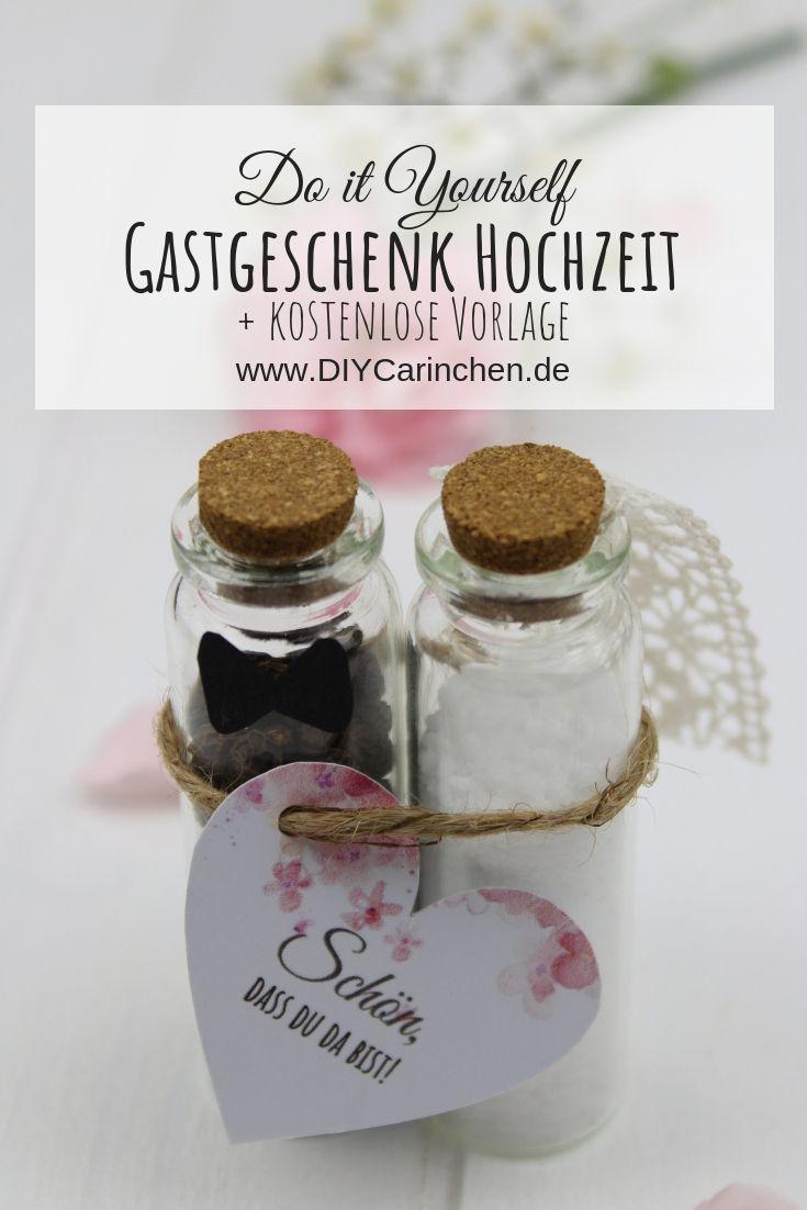 DIY Gastgeschenk Pfeffer und Salz für die Hochzeit einfach selber machen