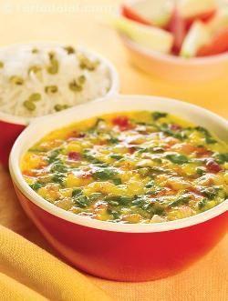 Masoor Dal With Spinach ( Protein Rich Recipes ) recipe | by Tarla Dalal | Tarladalal.com | #33249