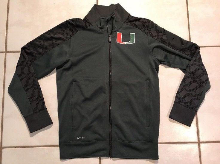 Rare NIKE DRI-FIT  Miami Hurricanes NCAA Jacket Men's XS  | eBay