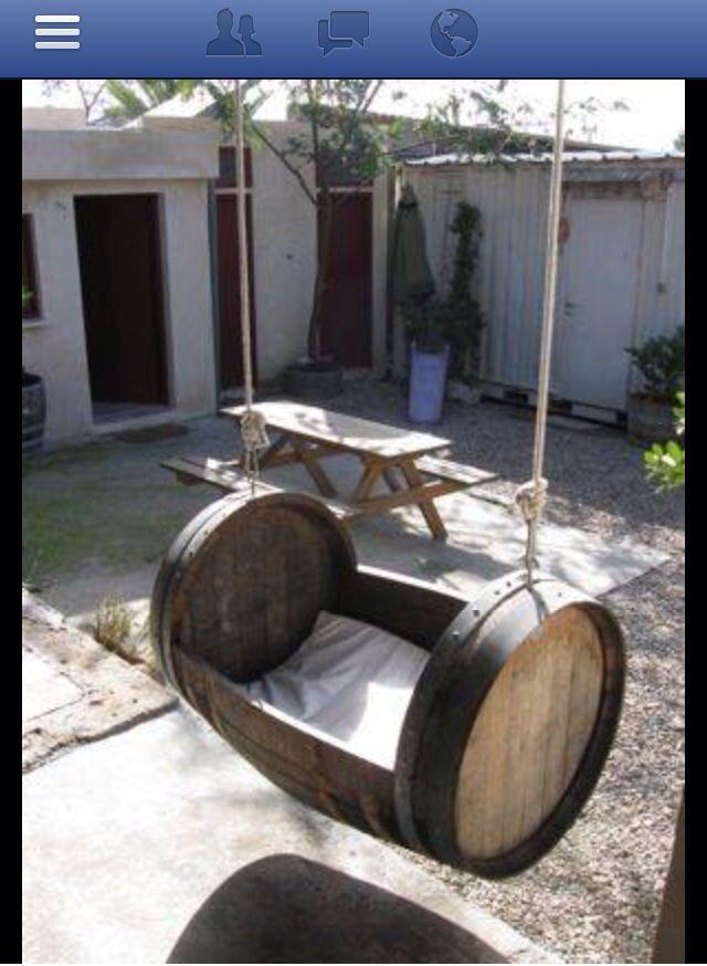 Whisky barrel swing