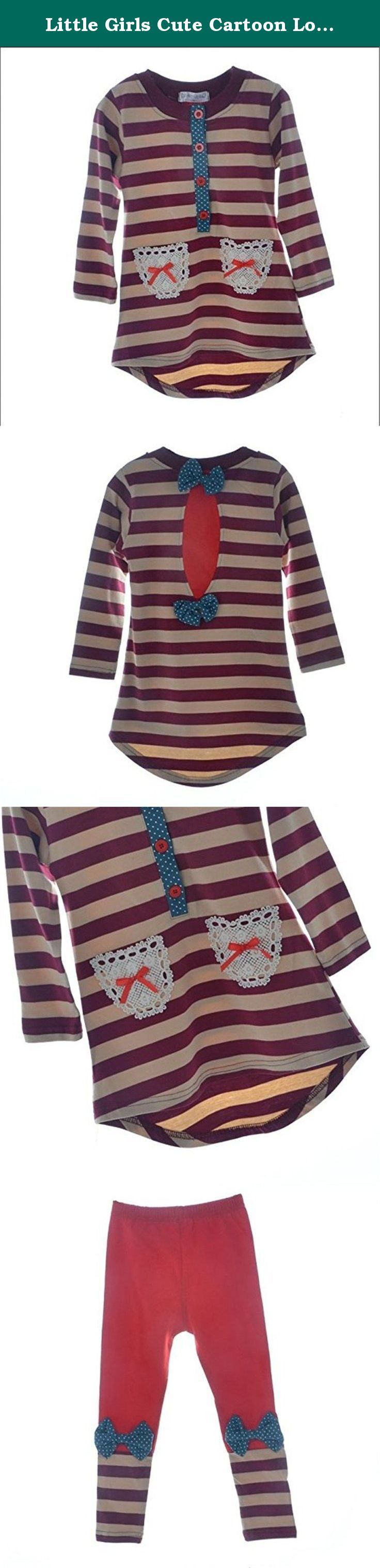 Little Girls Cute Cartoon Long Sleeve Sets 2-7 Striped Top Leggings XXL. Descriptions: The size in our listing is Asian size and it is different from US size, so please check the following size details before you place an order.The fittest size is the best. Size details for cat clothes set: Tag 100 ( recommend to 3-4 year):chest 24 inch,shoulder 11 inch,sleeve 14 inch,top length 19 inch,legging length 23 inch; Tag 110 ( recommend to 4-5 year):chest 26 inch,shoulder 12 inch,sleeve 16.5...