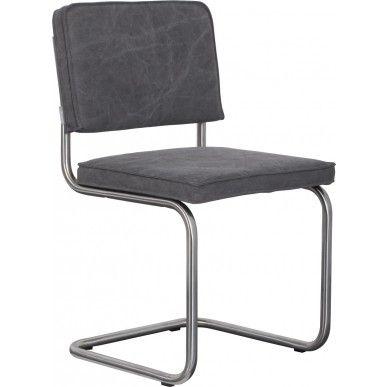 Zuiver stoel Ridge Vintage Brushed - Grijs - DesignOnline24.nl - NIEUW