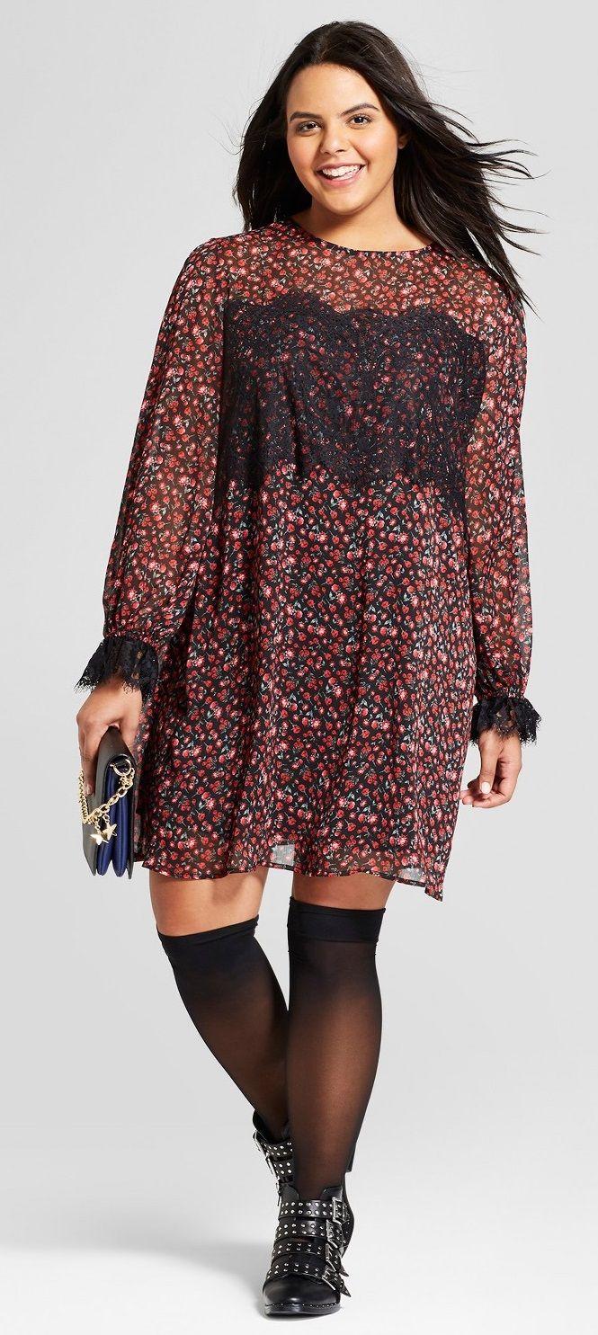 Plus Size Long Sleeve Dress - Plus Size Fashion for Women #plussize