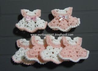 """Punto Preso1: Croche - Fare un po 'di """"Baby souvenir."""" . ."""