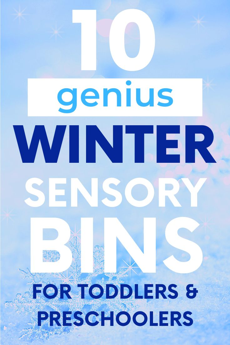 Winter Sensory Bins for Toddlers and Preschoolers