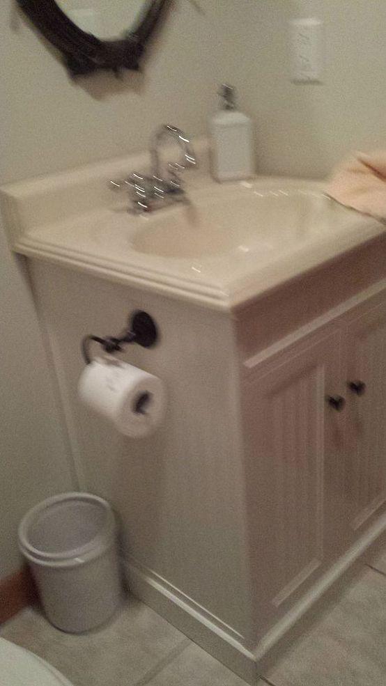 Updating A Small Powder Room :: Hometalk