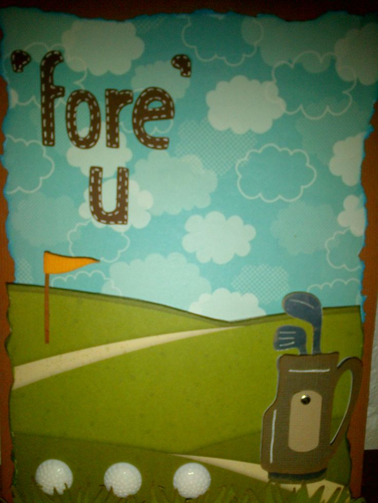 Birthday card for a golfing enthusiast.