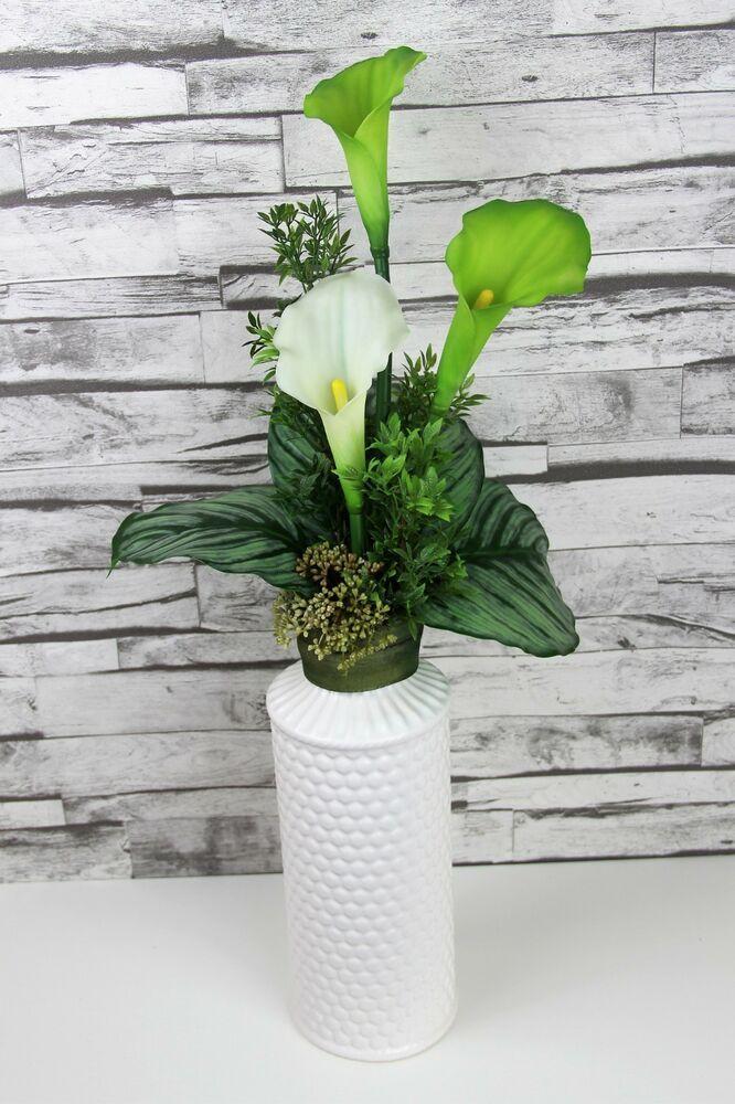 künstliche Blumen-Deko 1 x Calla weiß   Seidenblumen