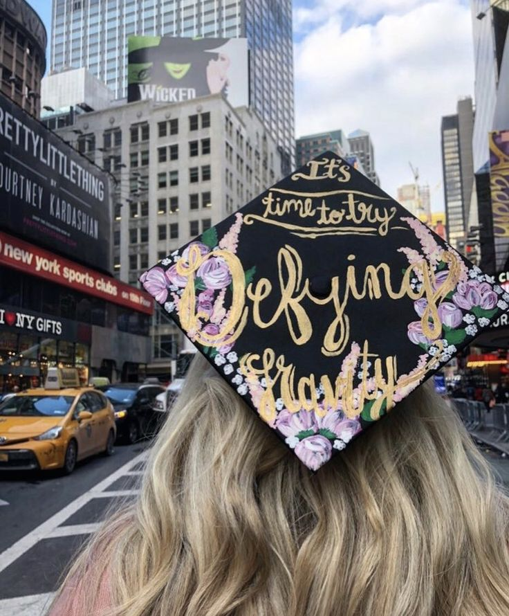 """Defy Gravity"" Wicked Broadway graduation cap"