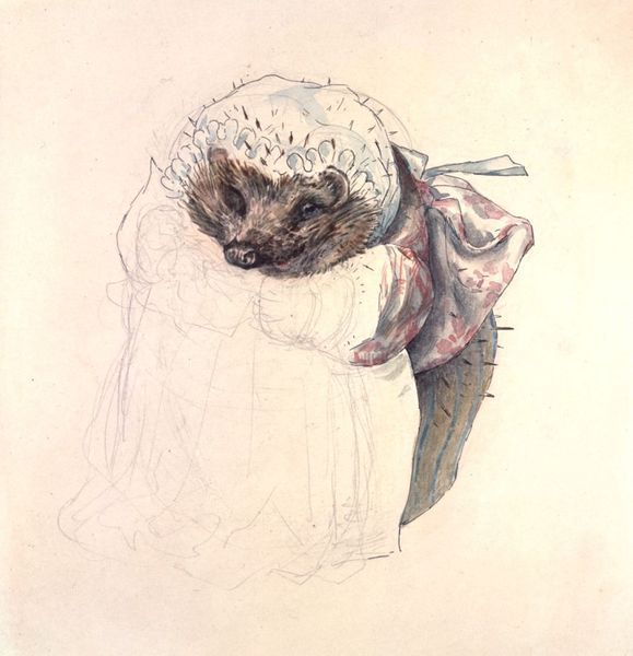 Remember to check your woodpile for hedgehogs! l Sketch of Mrs Tiggy-Winkle by Beatrix Potter, ca. 1905. l Victoria and Albert Museum