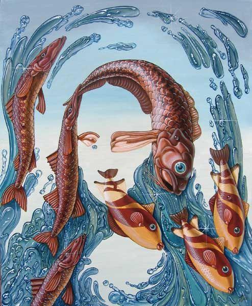 Mona Lisa (water) [Victor Molev]Victormolev, Fish Art, Victor Molev, Mona Lisa, Artists Impressions, Mona Baby, The Mona Lisa, Gioconda Projects, Monalisa