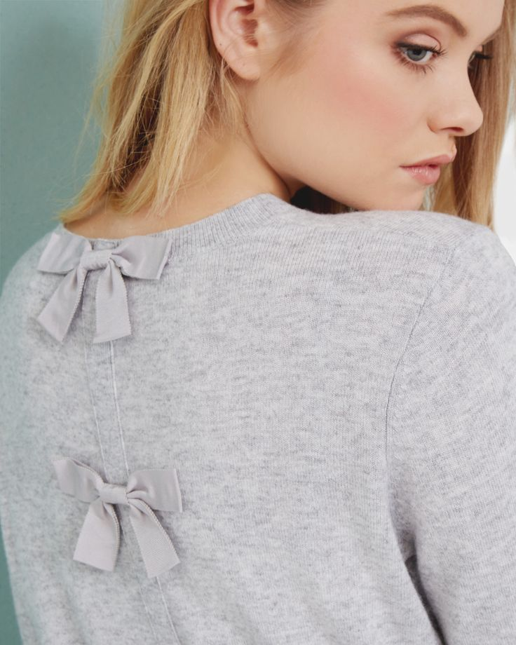 Cashmere-blend bow sweater