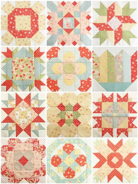 Mystery Block of the Month Trial Layouts - Pretty by Hand - Pretty By Hand