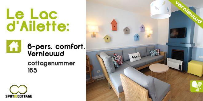 Spot je cottage | cottage 165 6 persoons comfort | Le Lac d'Ailette (met video)