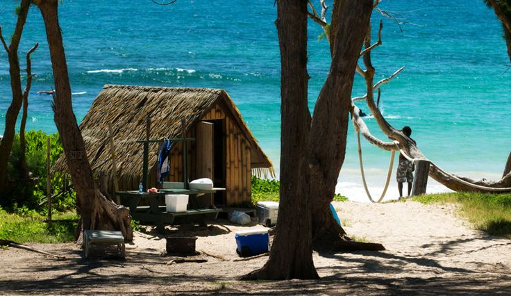 Malaekahana Camping Ground huts on Oahu's north shore for $40/nt. - I might go camping if it looks like this...