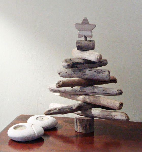 Albero di natale con legni di mare di Tendance nature su DaWanda.com