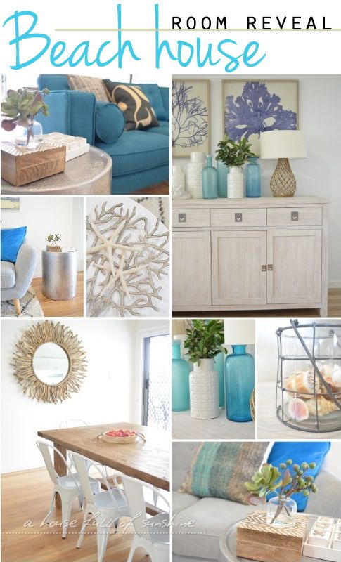 Beautiful Beach House Room Reveal By A Full Of Sunshine For Practically Functional