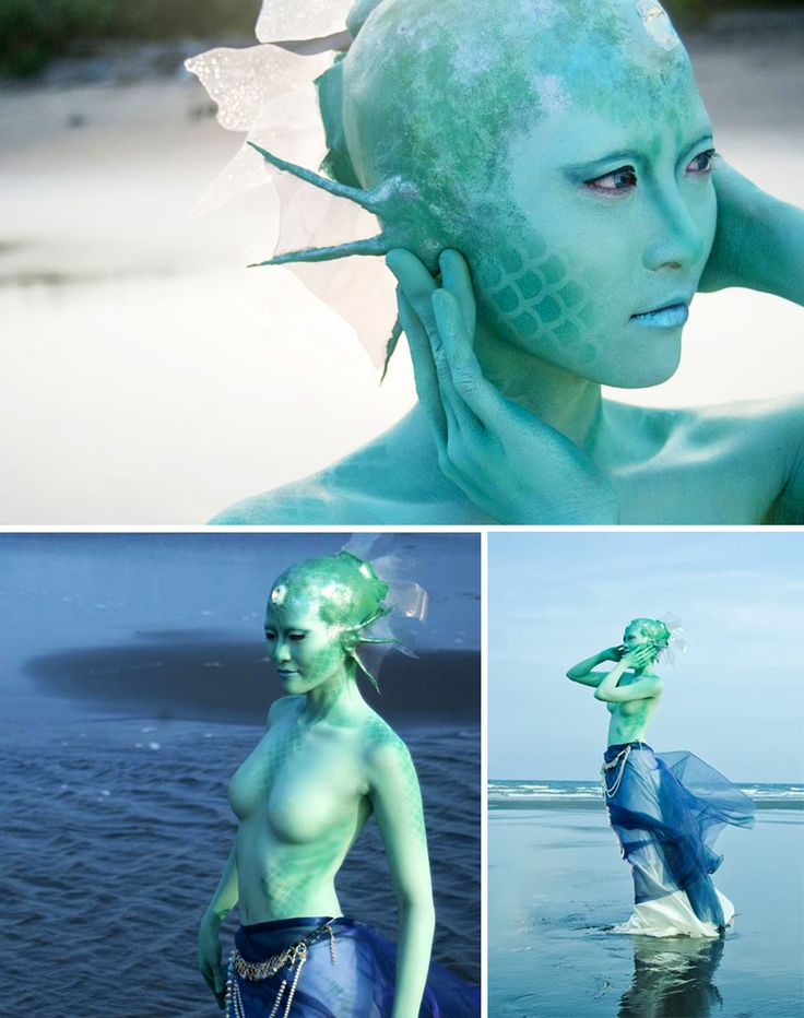 * Siren by the Seaside * Taiwan-native Co-op Global Makeup student Ann Lin took her beautiful mermaid airbrush creative out for a day at the beach!