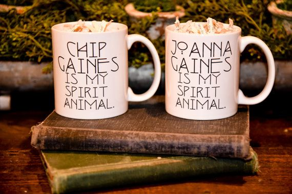 11 oz. ceramic coffee mug, white only.  - OMG ME AND SCOTT NEED THESE!!!!Handmade in the heart of our home.  -Dishwasher & Microwave Safe. These designs are not vinyl and will not wash off.  -ORIGINAL DESIGN! This mug is for all the lovers of the show Fixer Upper and for all who believe that Joanna Gaines is their spirit animal! This mug was featured on Country Living, Womanista & on Chip Gaines instagram account, @chippergaines