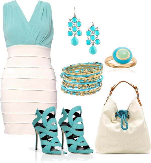 : Bandage Dresses, Blue 3, Colors Combos, Aqua Blue, Receptions Dresses, Outfits Blue, The Dresses, Tiffany'S Blue, Tiffany Blue Dresses