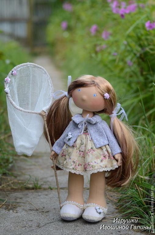 Купить Линда)))) - синий, кукла, кукла ручной работы, интерьерная кукла, большеножка, подарок