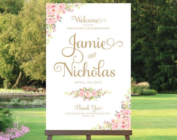#weddings #printable #welcome #sign #signs #affordable