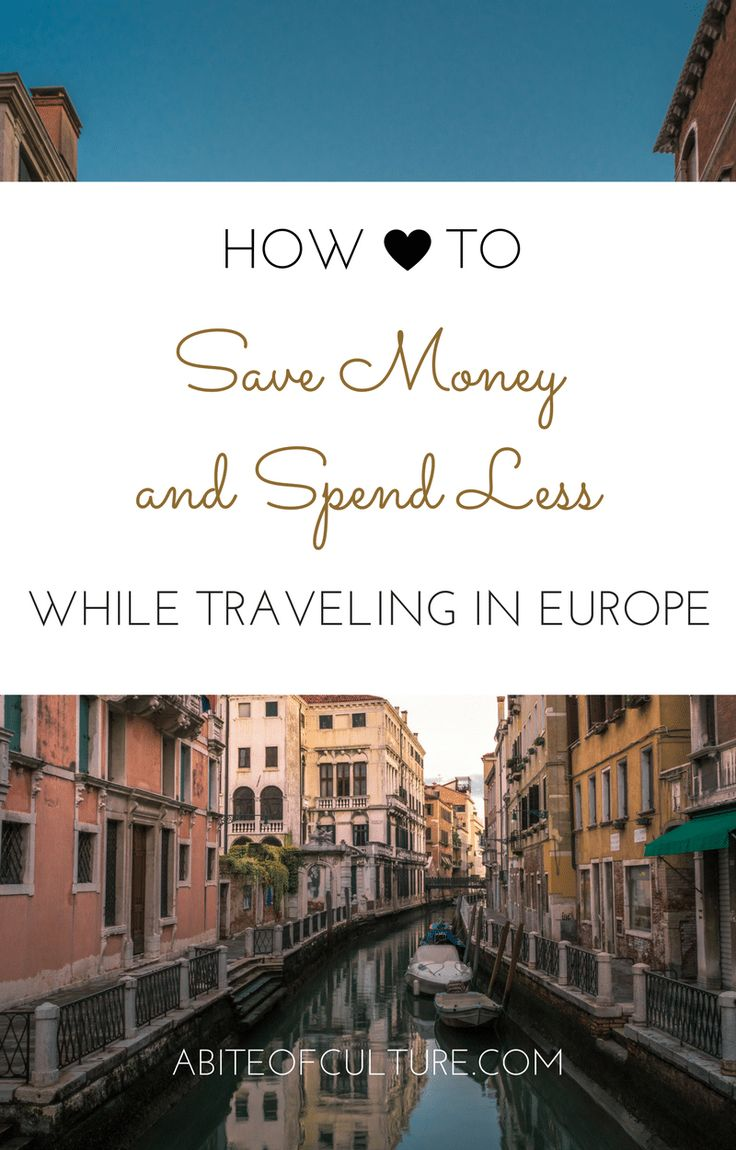 How to Save Money and Spend Less While Traveling in Europe; Being on a budget while traveling Europe is totally possible if you do it the right way. Of course there are hostels and cheap flights, but what are the not so obvious ays to save money during your travels? With these tips you'll be able to afford that extra scoop of gelato in Italy or that beer in Germany! Happy travels!