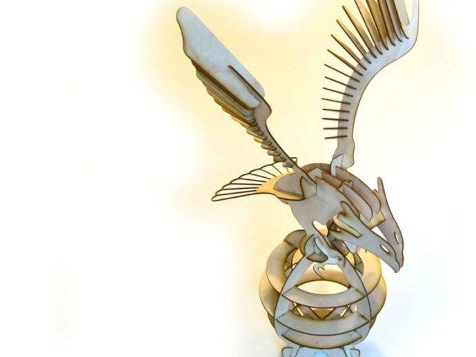 LaserCut 3D Puzzle Eagle Proyectos