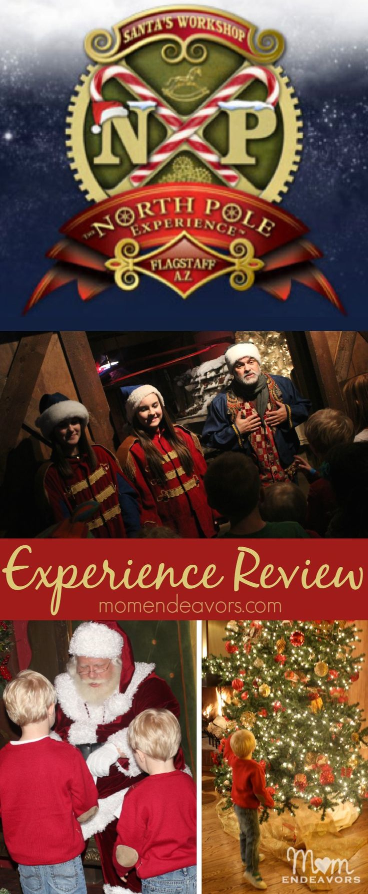 North Pole Experience in Flagstaff, Arizona - a review with lots of pictures & details about the experience! via momendeavors.com #NPX #FamilyTravel
