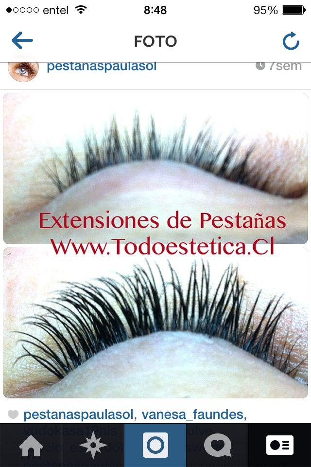 #ExtensionesdePestañas somos especialistas. Santiago horas wsp 98846022 web www.todoestetica.cl Instagram @pestanaspaulasol