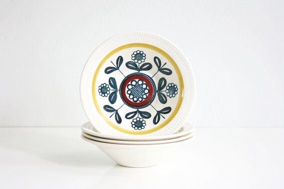 Mid Century Kon Tiki Bowls by Inger Waage for by WiseApple on Etsy