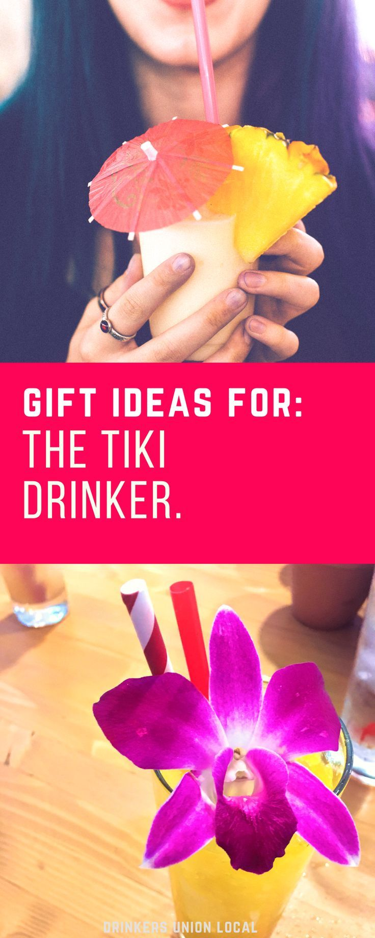 Have a friend who loves tiki drinks? Then you need this gift guide! Aloha!  #tiki #tikidrinks #cocktails #giftguide