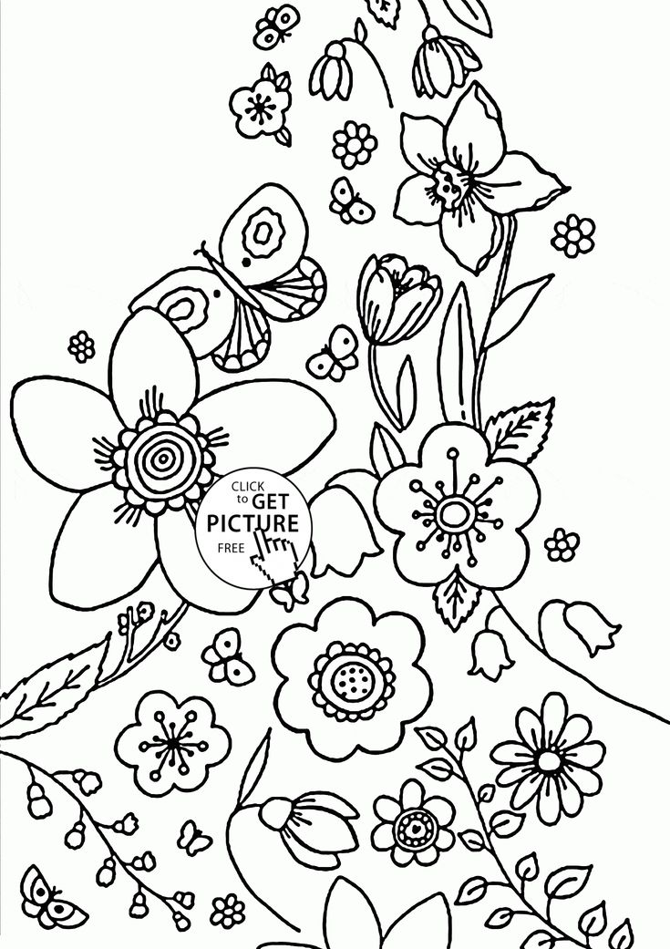 Spring coming coloring page for kids, seasons coloring ...