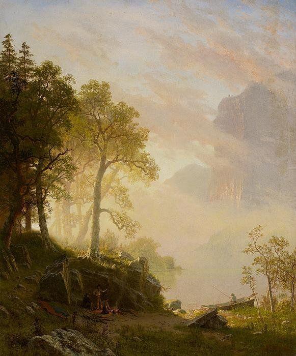 Nice The Merced River In Yosemite Art Print by Albert Bierstadt