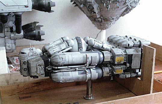 東宝映画『さよならジュピター』( 1984 )に使われた小川モデリング製作の 宇宙船プロップ等