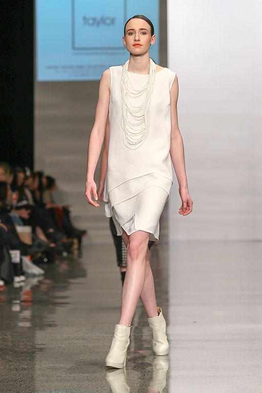 taylor 'Incision' collection at NZFW - Contour Dress and Filament Neckpiece