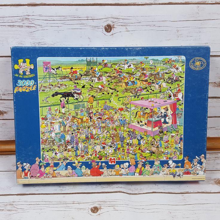 """Jumbo Jan Van Haasteren """" Ascot Horse Racing """" Puzzle ( 3000 - piece ) FREE SHIP #Jumbo"""