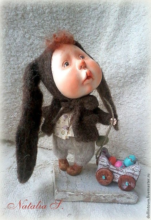 """Купить авторская кукла """"В ожидание чуда"""" - коричневый, гапчинская, авторская…"""
